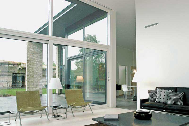 vinduesfacader fra schuco husmer glas og facade. Black Bedroom Furniture Sets. Home Design Ideas