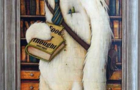 reader digest johan potma zozoville maleri med indramning